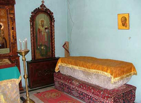 Sicriul Sfantului Ioan Gura de Aur - Komani, Georgia