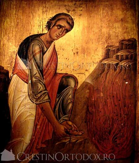 Moise se descalta langa Rugul Aprins