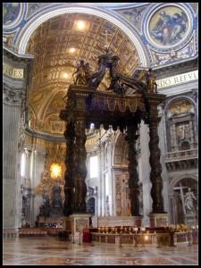baldachin sfantul petru vatican roma