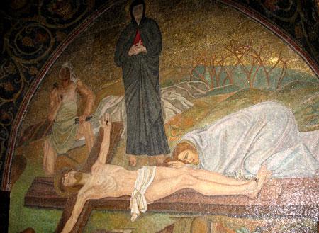 Drumul Crucii - Via Dolorosa - XI - Baterea in cuie a Mantuitorului