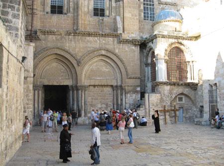 Drumul Crucii - Via Dolorosa - X - Curtea Bisericii Sfantului Mormant