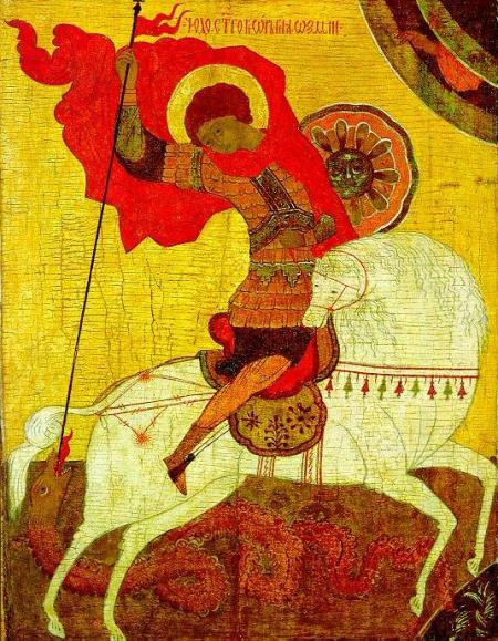 Sfantul Gheorghe in iconografia ortodoxa