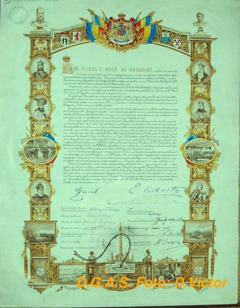 Actul de promulgare a Regatului României